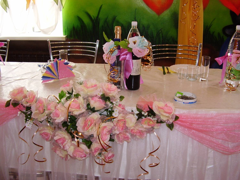 Как можно украсить стол на свадьбу своими руками 69